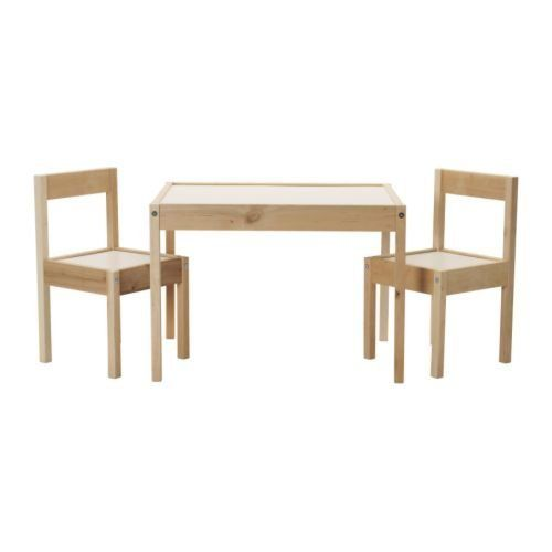 ikea children's kids table & 2 chairs set furniture (1 | kid table