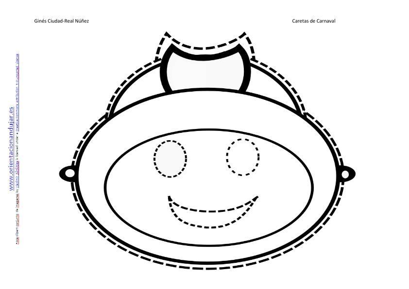 IMAGEN CARETA DE CARNAVAL BOMBERO-2 | Material educativo | Pinterest ...