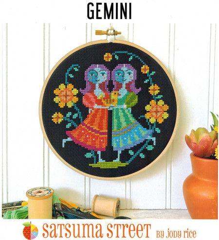 Gemini - Cross Stitch Pattern #freereadingincsites