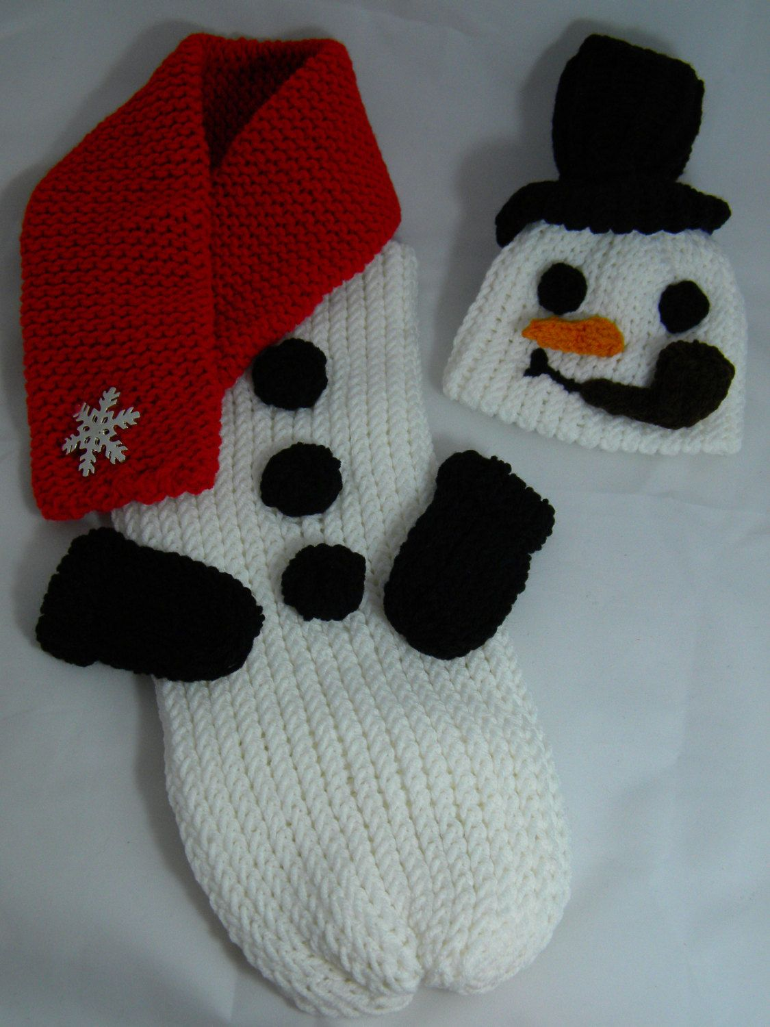 Snowman Knitted Cocoon And Hat Set By Pipisqueaks On Etsy 4000