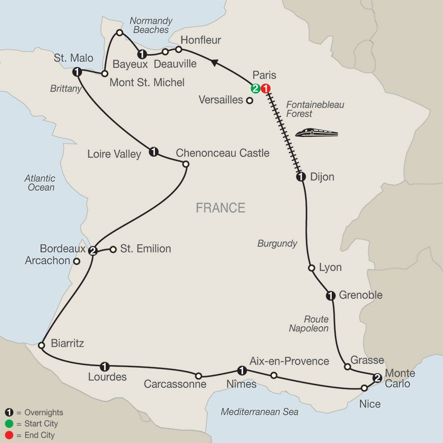 Sample Itinerary La France 2015 Tours France France Escorted