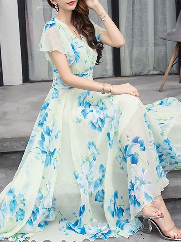 Pin By Munima Tahsin On My Fashion Chiffon Dress Long Chiffon Maxi Dress Fashion Clothes Women [ 1365 x 1024 Pixel ]