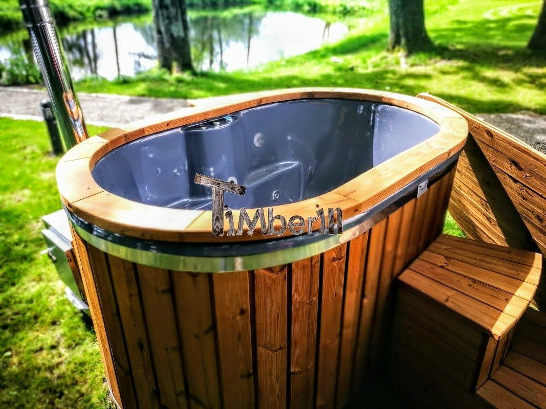 Garten Whirlpool Hot Tub 2 Person Hot Tub With Thermo Wood Cladding Wooden Hot Tubs Wood