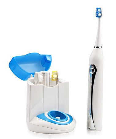 Another great find on #zulily! Blue Rechargeable Sonic Toothbrush & Sanitizer Set #zulilyfinds