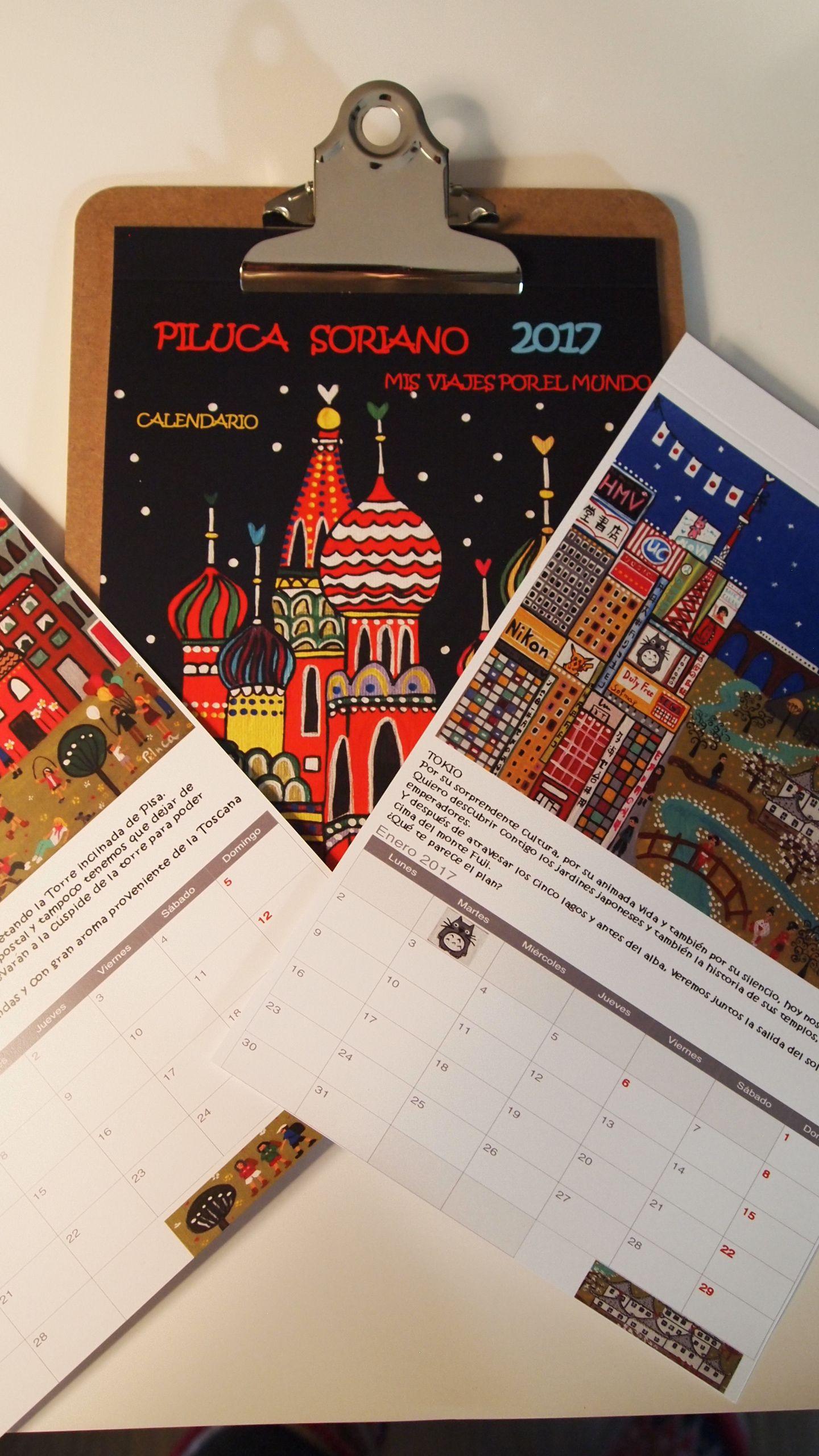 Calendario 2017. Mis viajes por el mundo.