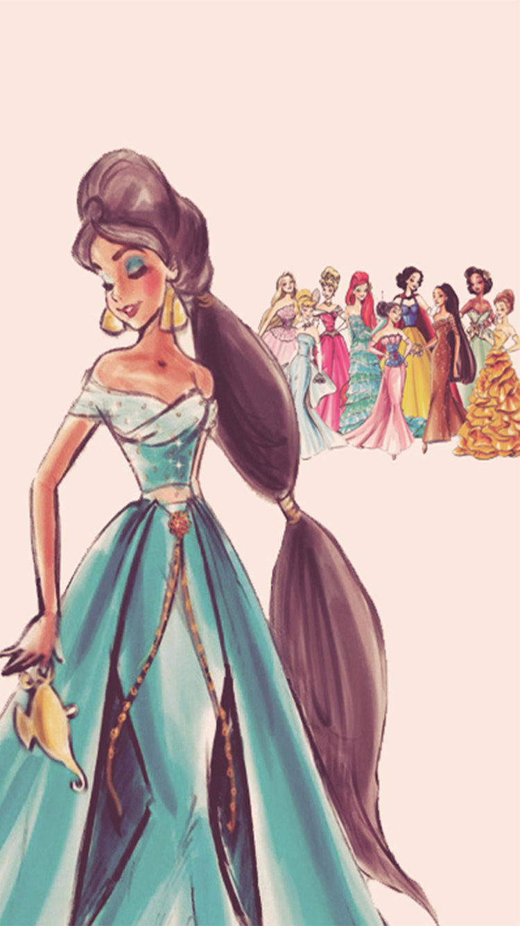 Disney Girls Princess Art Princesses Collection Vintage Wallpapers Iphone Impressions Tiana