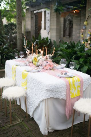 Citron and pink wedding reception   LH Photography   see more on // & glamorous and creative \u0027love is sweet\u0027 shoot   Pink wedding receptions
