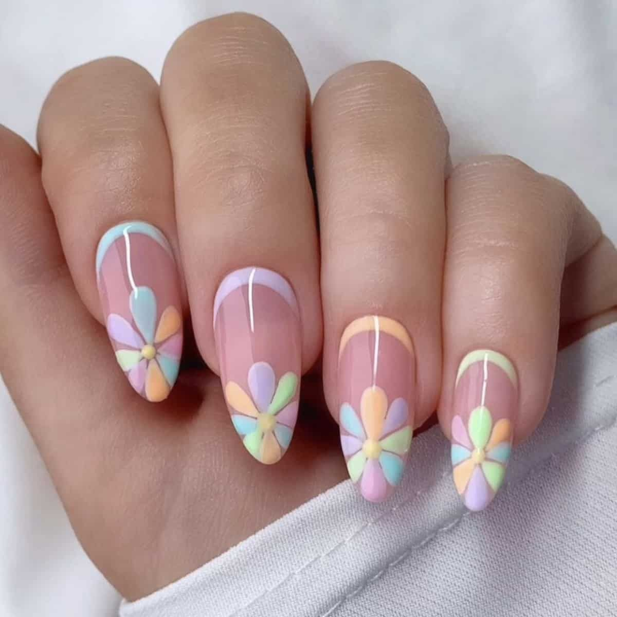 20+ Prettiest Summer Nail Colors of 20 in 20   Spring acrylic ...