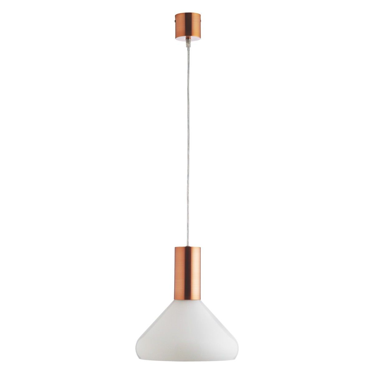 Marlowe White Glass And Copper Ceiling Light Kitchen