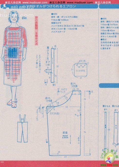 转载]实用裁剪图 | Sewing | Pinterest | Costura, Delantales y Telas