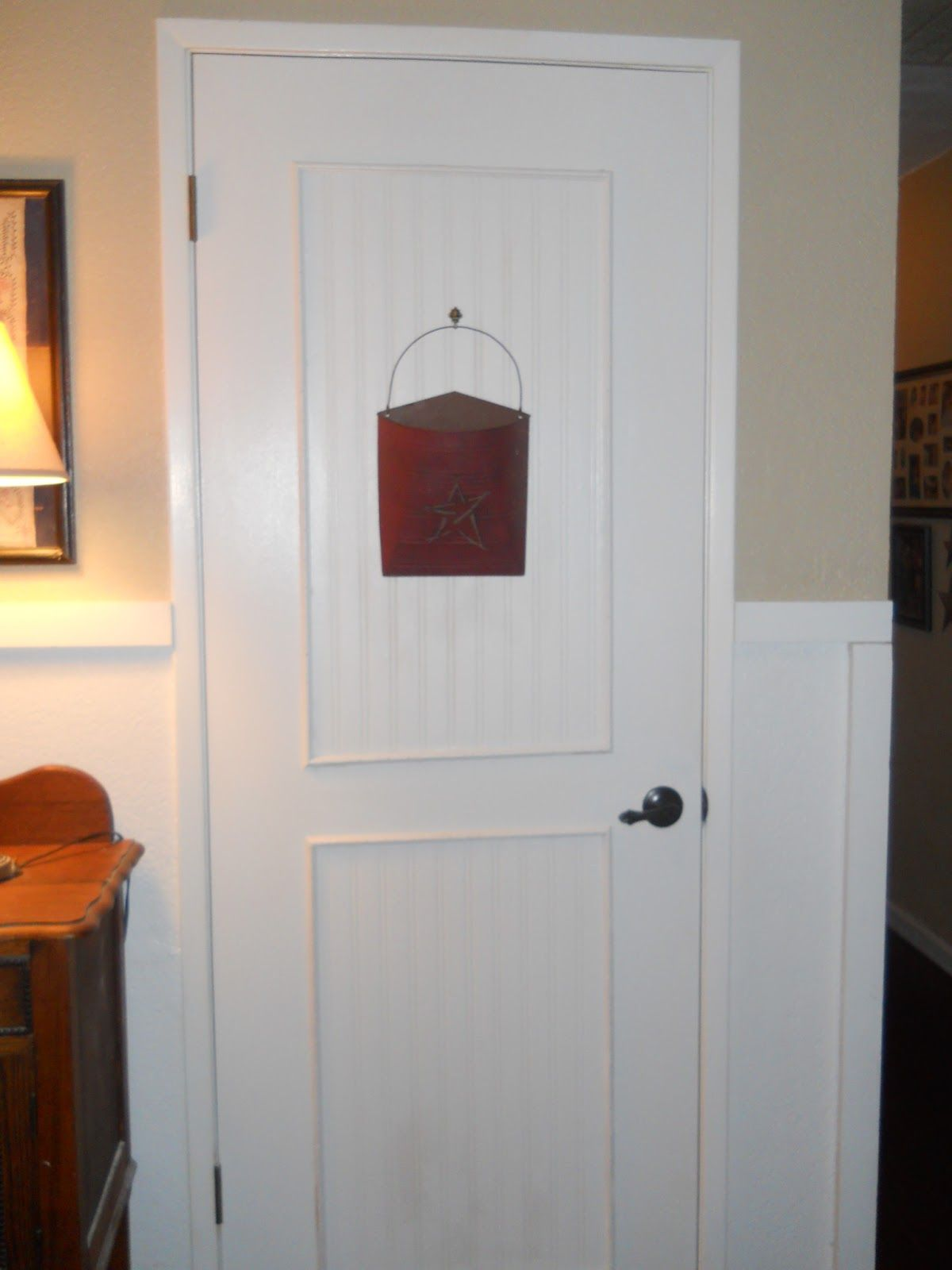 Living A Cottage Life: Beadboard Door AND Ceiling!