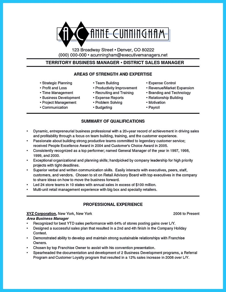 Awesome Make The Most Magnificent Business Manager Resume For