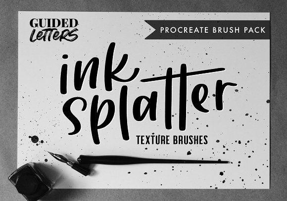 Download Ink Splatter Texture for Procreate in 2020 | Ink splatter ...