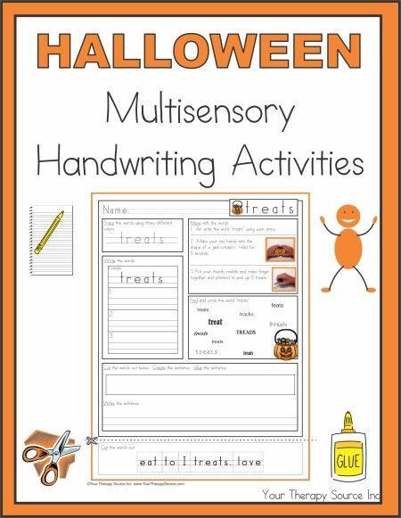 halloween multisensory handwriting activities ot pinterest handwriting activities. Black Bedroom Furniture Sets. Home Design Ideas