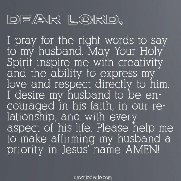 Prayer: Affirming My Husband