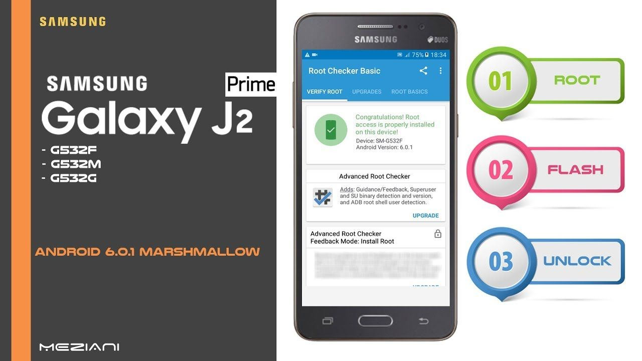 Root, Flash and Unlock SAMSUNG J2 PRIME G532F, G532M, G532G