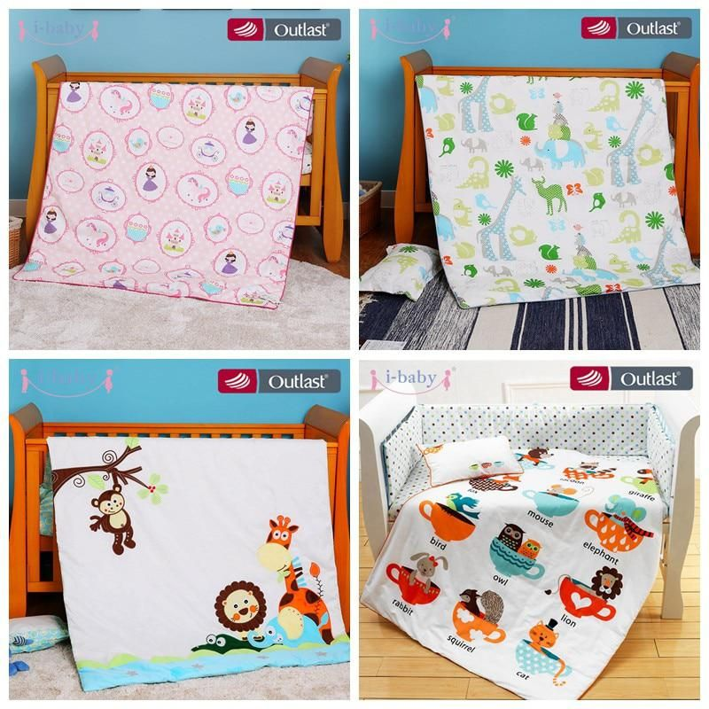 ibaby 4pcs Crib Bedding Set Cot Fitted Sheets ,Duvet