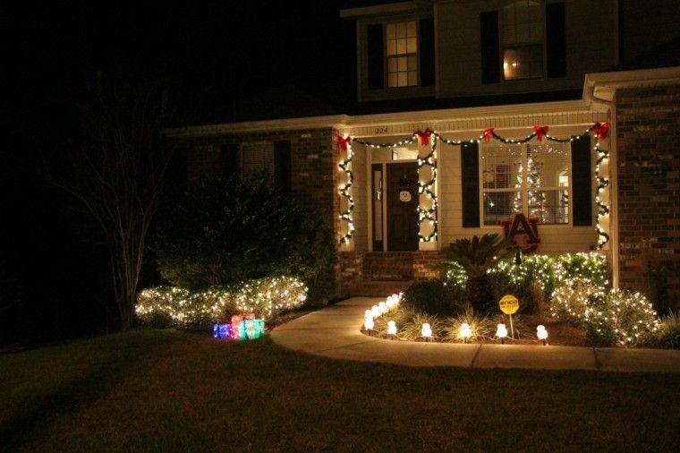 Iluminacion exterior decoracion navide a con luces luces for Luces para exterior de casa