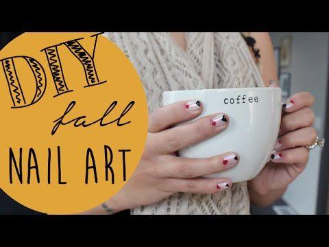 DIY Fall Nail Art Aztec and Geometric Pattern