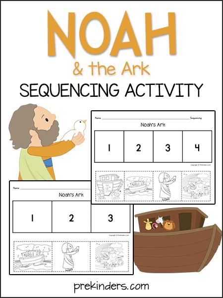 Noah\'s Ark: Sequencing Activity   Christian Preschool   Ark ...