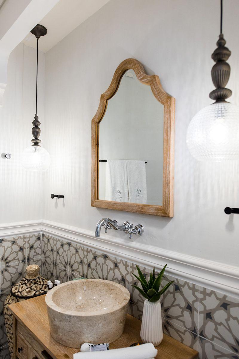 Villa Jasmine: A Dreamy Greece Getaway | Moroccan tile bathroom ...