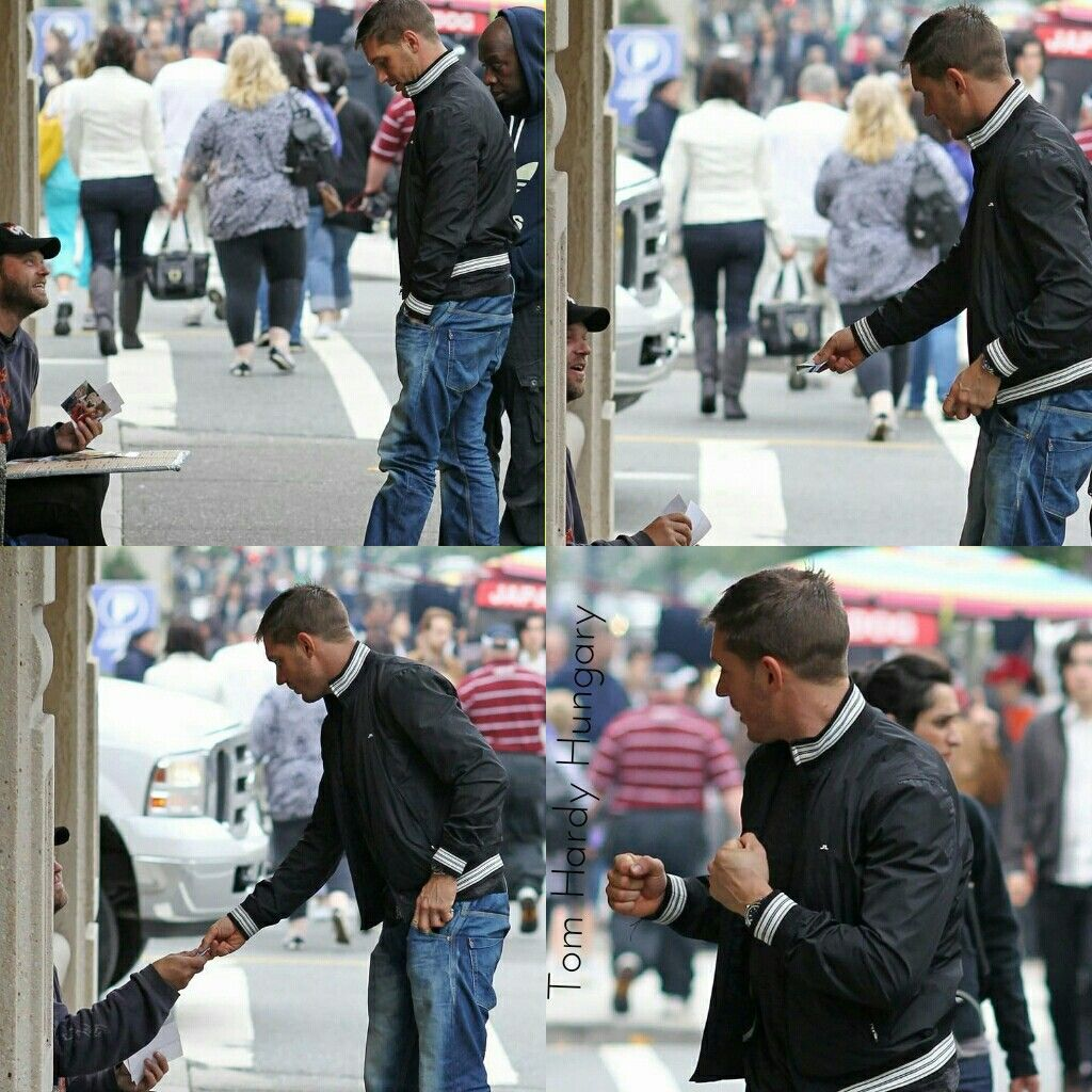 Giving Money To A Homeless Person Tom Hardy Hot Tom Hardy Tommy Boy