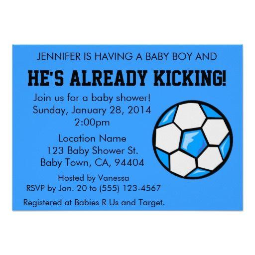 Soccer Baby Shower Invitation Customizable Invitation