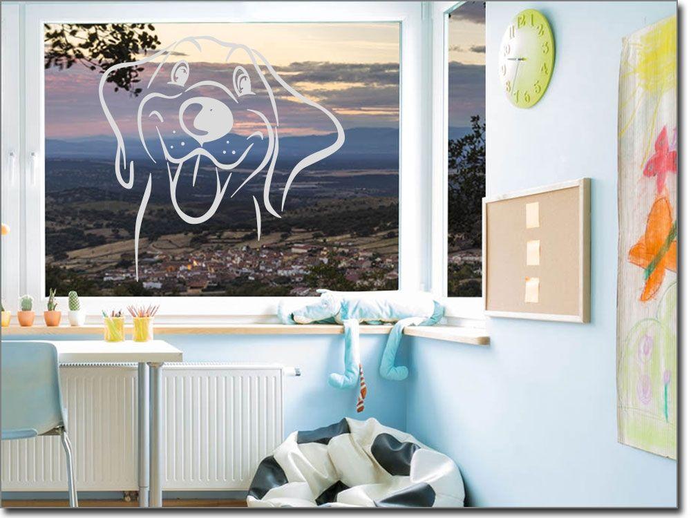Glasfolie Putziger Hund | Fenstertattoo, Hunde und Kinderzimmer