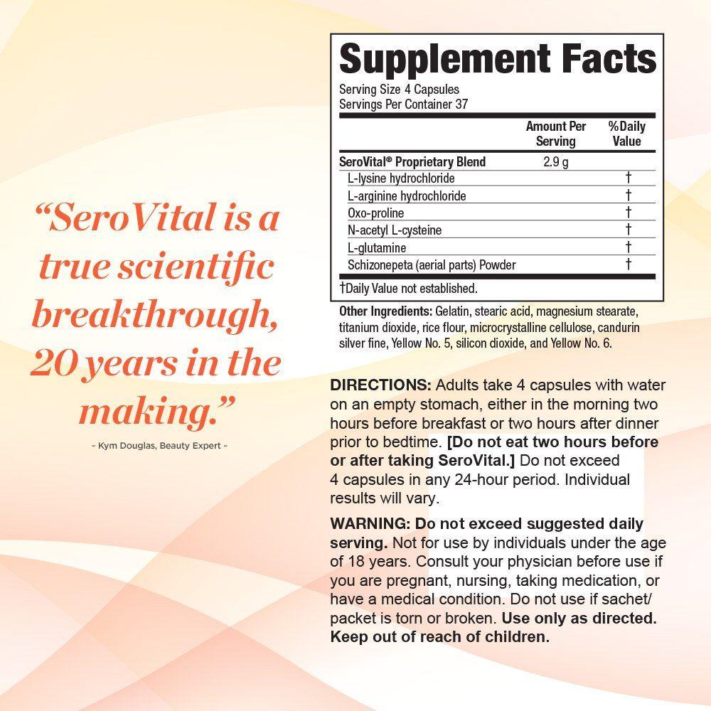 SeroVital Dietary Supplement Maximum Strength 148 capsules ...