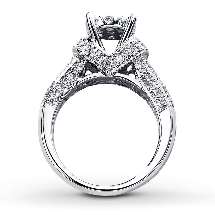 The Unique Design Of This Ring Features A Flower Of Diamonds As The Sparkling Centerpiece Add Unique Diamond Rings Kays Engagement Ring Diamond Rings For Sale