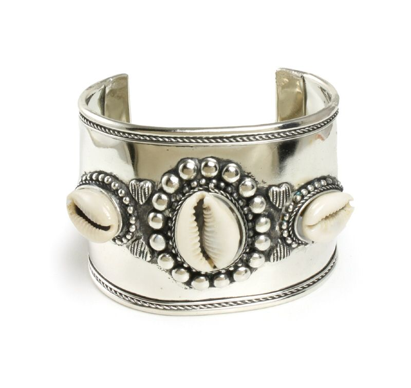 This Stunning Stainless Steel Cowrie Cuff Bracelet Combines The Geometric Artwork Designs Of Africa With Meaning S