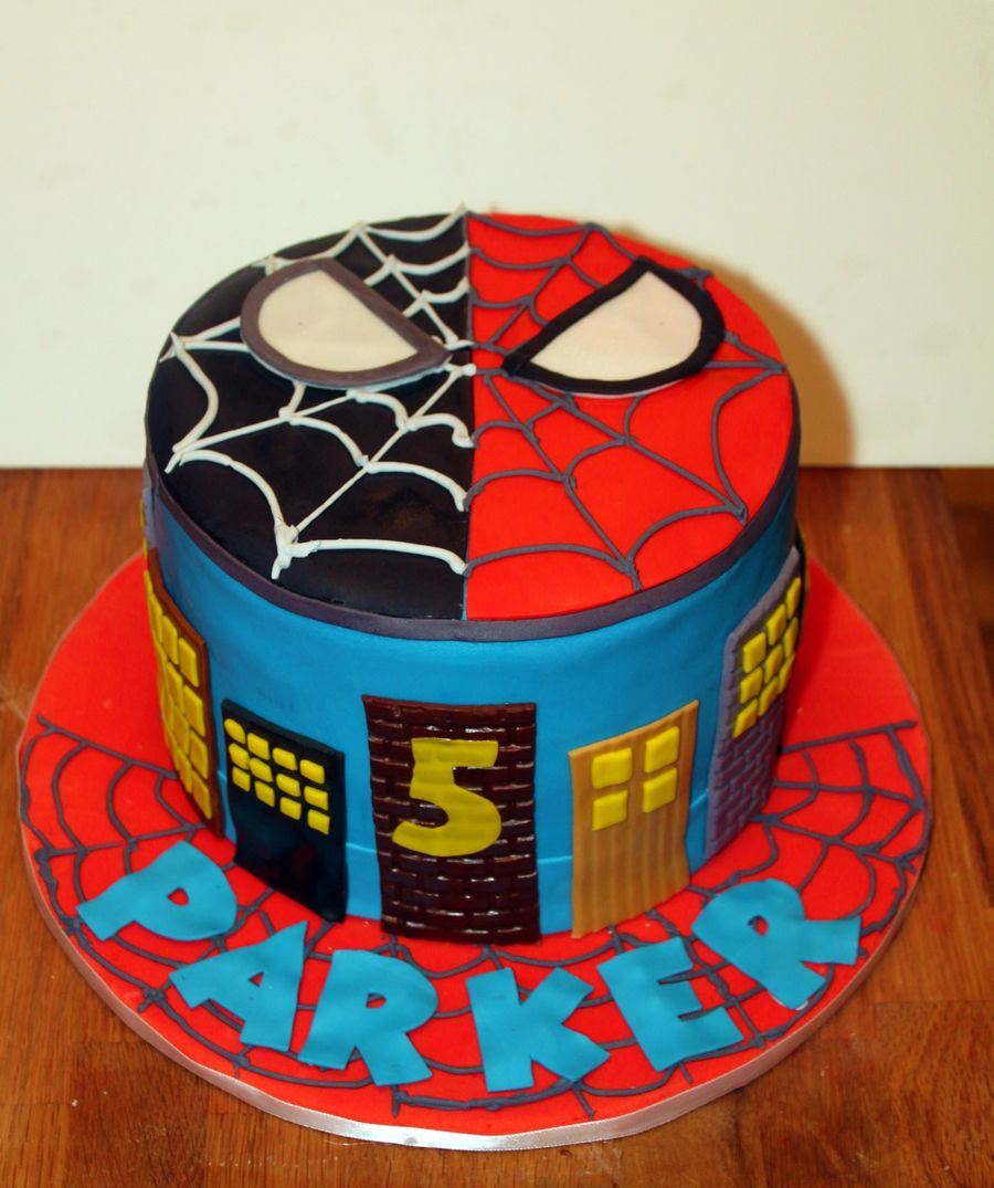 Spiderman Vs Venom Birthday Cake On Cake Central Fiestas