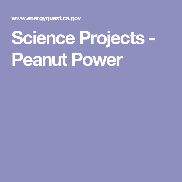 Science Projects - Peanut Power