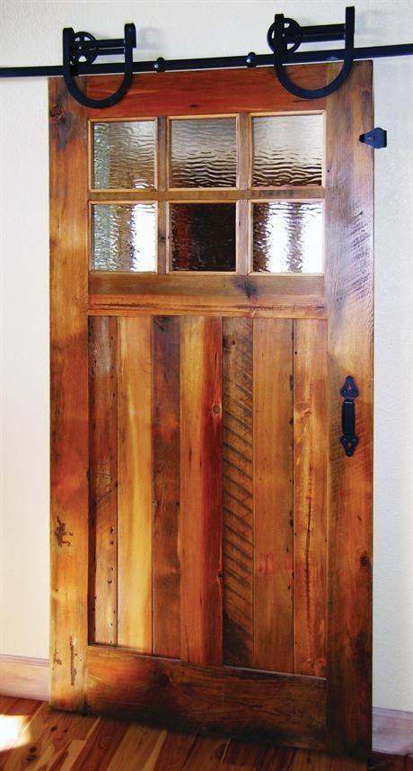 Awesome reclaimed door barn door style hanging house - Reclaimed wood interior barn doors ...