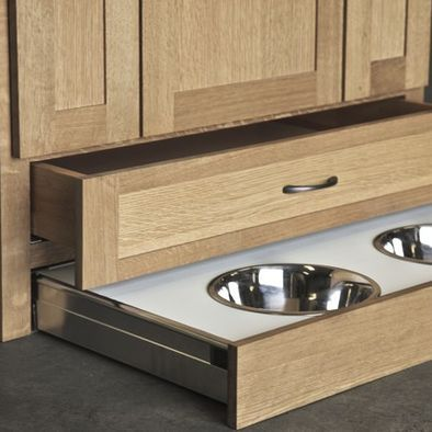 Kitchen Products Toe Kick Drawer Dog Bowl Need A Place For Dog