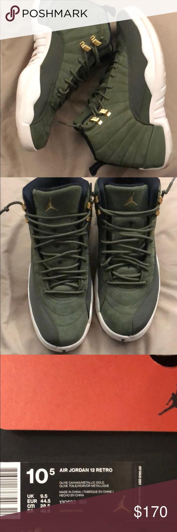 new styles aaa5d efa00 Jordans 12 Olive green Air Jordan 12s Olive green suede ...