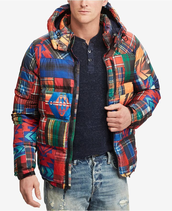 Polo Ralph Lauren Men's Patchwork Ripstop Down Jacket