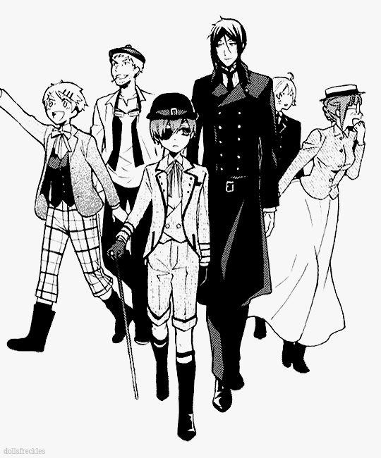 kuroshitsuji black butler phantomhive manor crew ciel