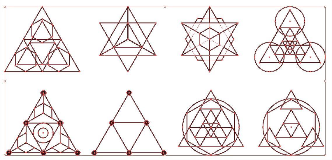 sacred geometry vector pack for adobe illustrator in 2018