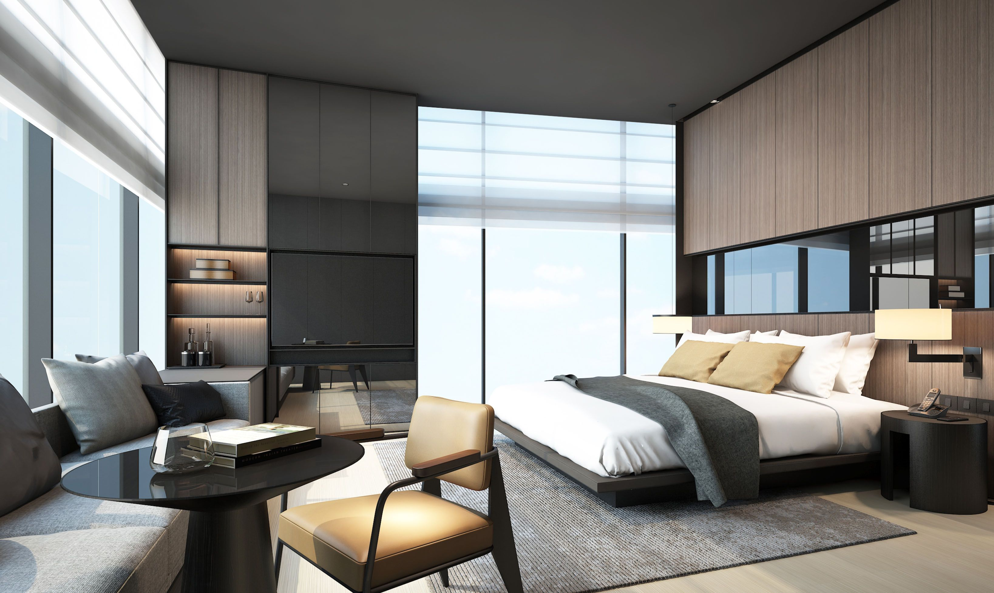 Scda hotel development singapore suites scda for Contemporary guest bedroom ideas
