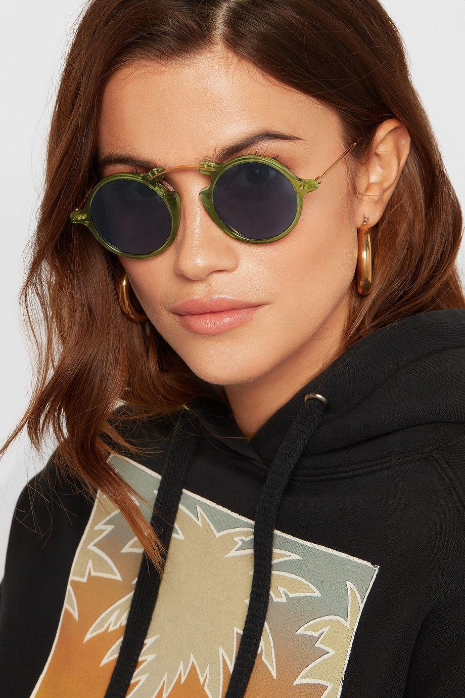 d0614f9f2 Illesteva | Roma II round-frame gold-tone and acetate sunglasses | NET-