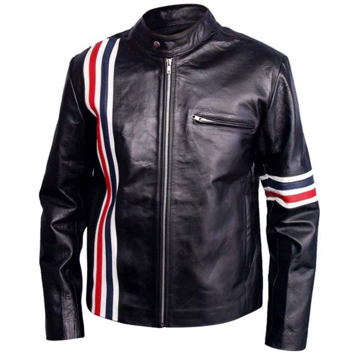 Easy Rider Peter Fonda American Star Biker Black Leather Jacket With Usa Flag Leather Estate This Leather Jackets Online Leather Jacket Men S Coats And Jackets [ 1200 x 1200 Pixel ]