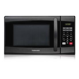 Toshiba Toshiba 0 9 Cuft Microwave Oven Black Stainless Ml2 Em25pa Bs In 2020 Black Microwave Microwave Countertop Microwave Oven