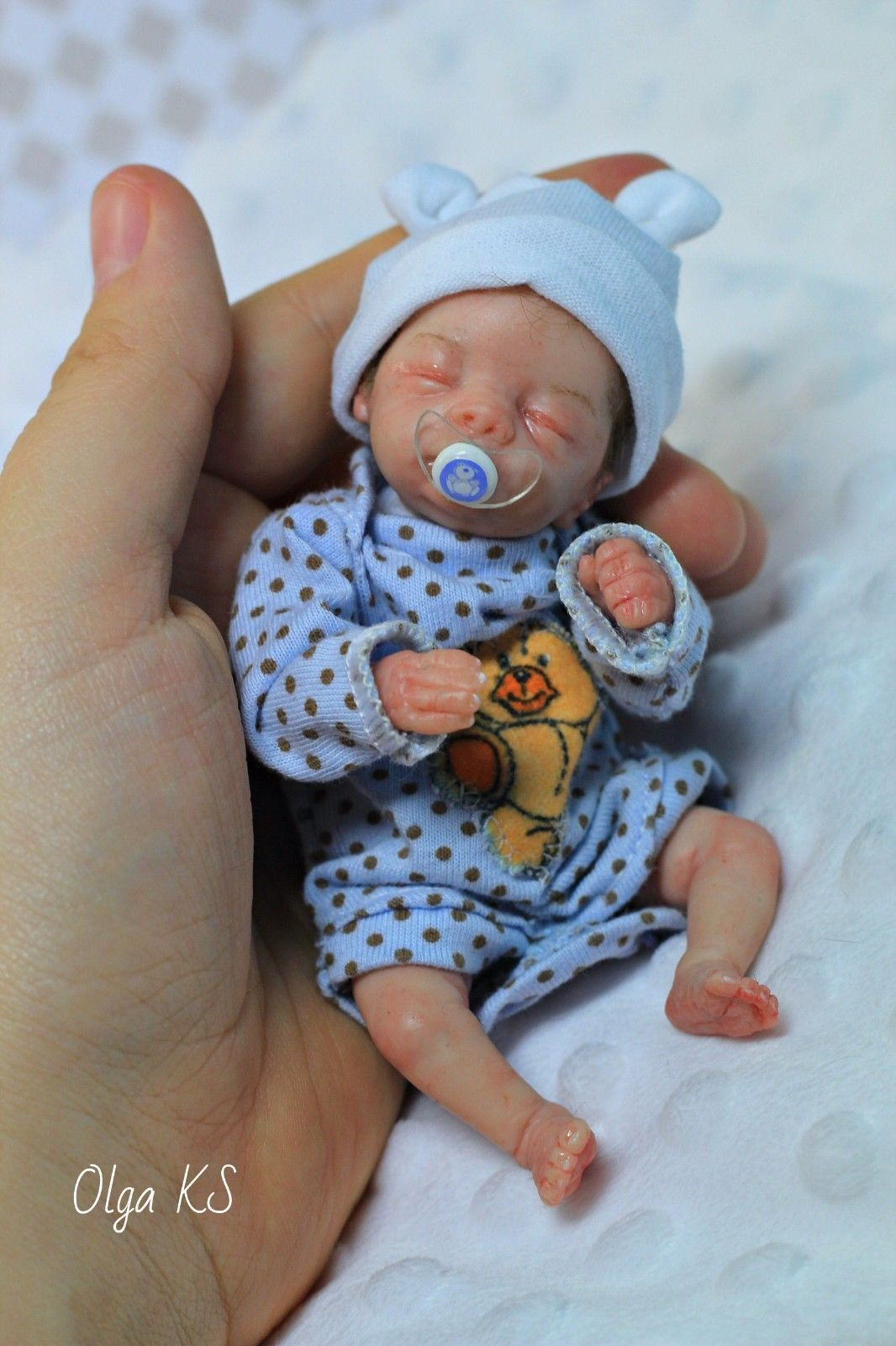 Ooak Hand Sculpted Baby Girl Art Doll Mini By Gina Holland Ebay Silicone Baby Dolls Baby Dolls For Sale Newborn Baby Dolls