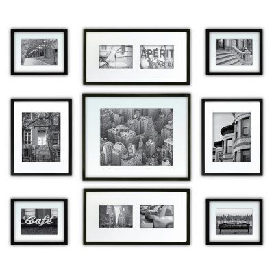 Nielsen Bainbridge Gallery Perfect Wall Picture Frame Kit - Set of 9 ...