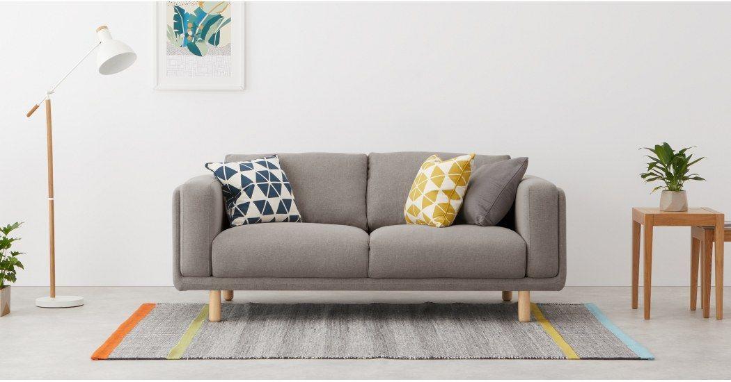 Karson 2 Sitzer Sofa Grau Made Com 3 Seater Sofa Sofa 2 Seater Sofa