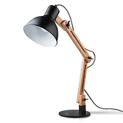Tomons Swing Arm Desk Lamp Adjustable Detachable Wood Table Lamp For Office Desk Lamp Lamp Table Lamp Wood