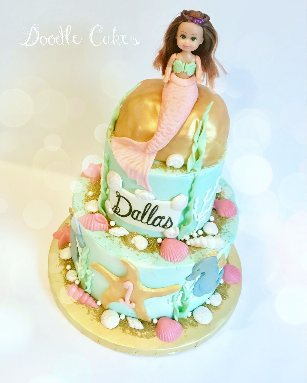 Pretty Baby Mermaid Cake For First Birthday My Cakes Goodies