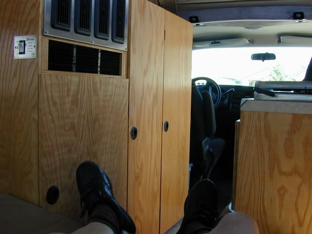 DIY Van Conversion adding a pop-up top and cabinets