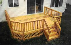 10 X 16 Deck W Decorative Lattice Apron Outdoor Deck Building A Deck Deck